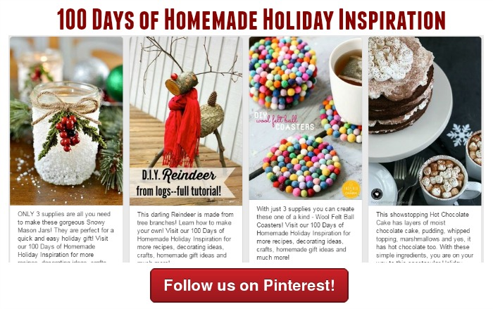 100 Days of Homemade Holiday Inspiration Pinterest Board