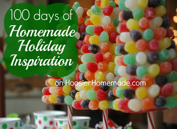 100 Days of Homemade Holiday Inspiration on HoosierHomemade.com