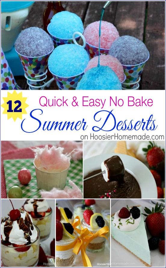 12 No Bake Summer Desserts on HoosierHomemade.com