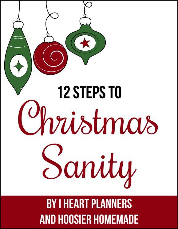 Join us for the 12 Steps to Christmas Sanity! Simple, easy and creative ideas to help you prepare for the holidays and have more time with your family! Pin to your Christmas Board! #ChristmasSanity
