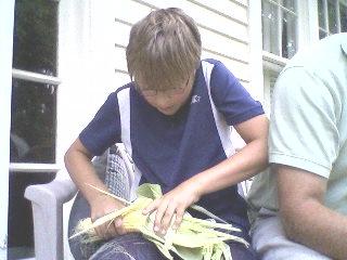 Corn shucking.2