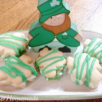 Shamrock Almond Cookies