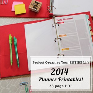 Organizing, Cleaning and Home Management Printables