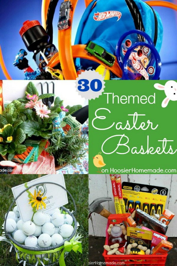 Easter Basket Ideas for Kids and Adults! Frozen Easter Basket, Baking Easter Basket, Easter Basket for Men, Easter Basket for Women and more! Pin to your Easter Board!