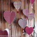 How to make 3D Paper Hearts :: Instructions on HoosierHomemade.com