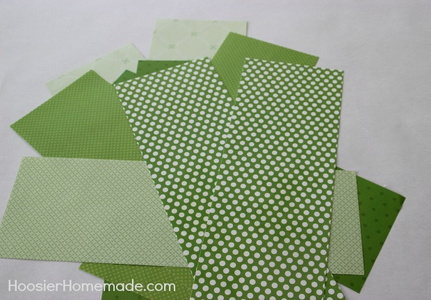 How to Make 3D Paper Shamrocks | Instructions on HoosierHomemade.com