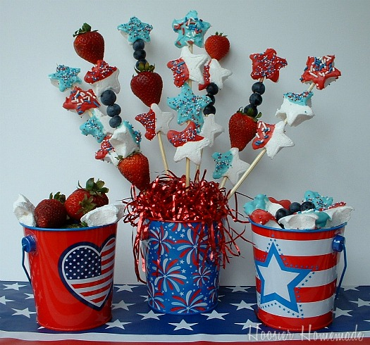 4th of July Dessert: Homemade Marshmallows Kabobs