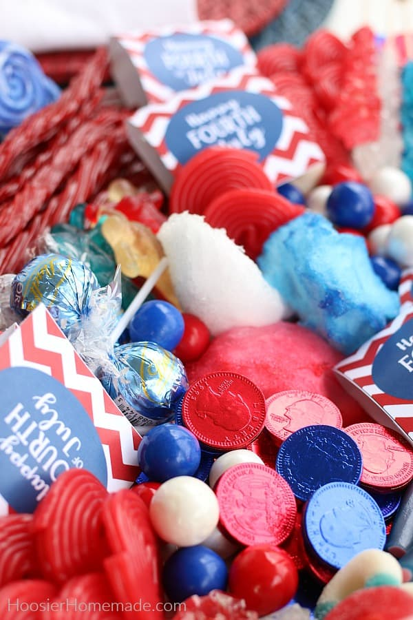 Red White and Blue Candy
