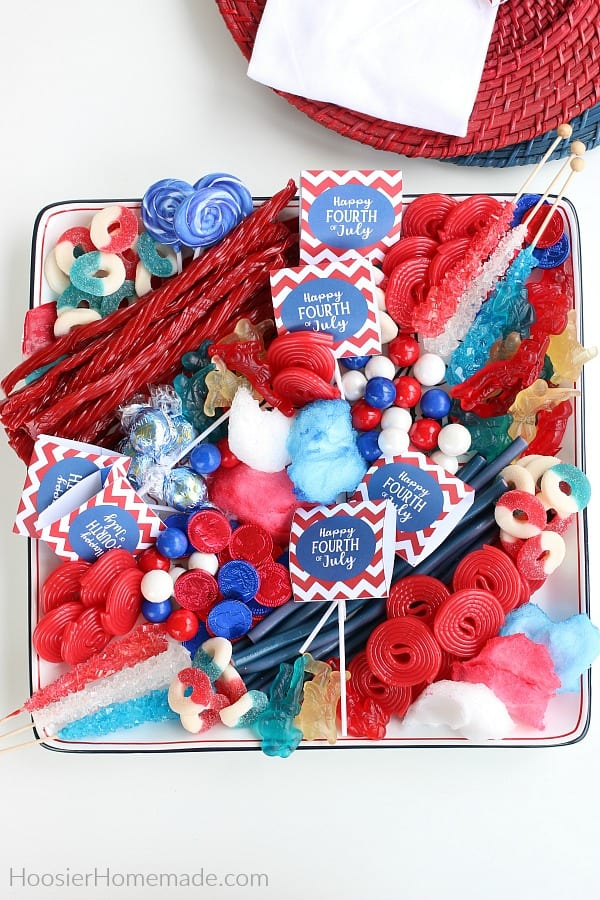 Red White and Blue Candy Tray