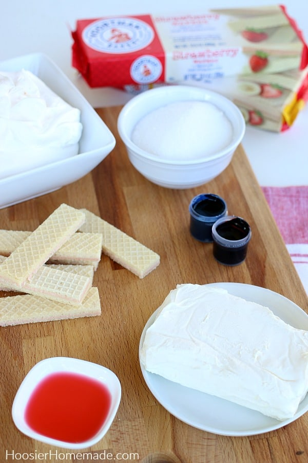 Ingredients for No Bake Cheesecake