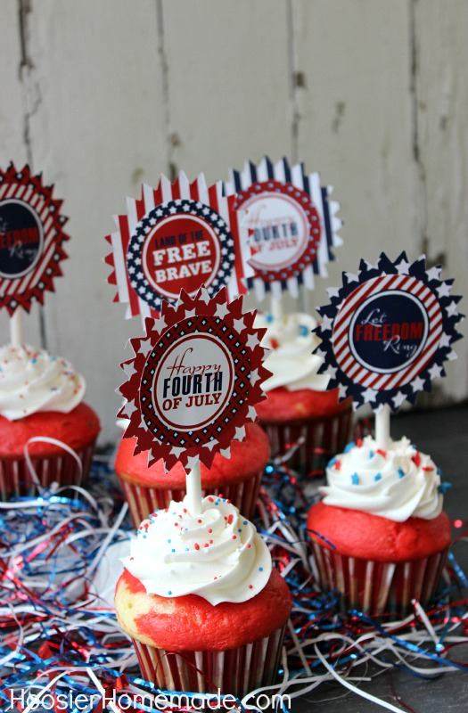 Easy Fourth Of July Cupcakes Red White And Blue