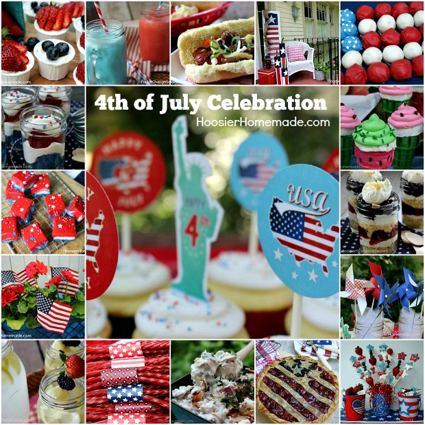 4th of July Food and Decorating on HoosierHomemade.com