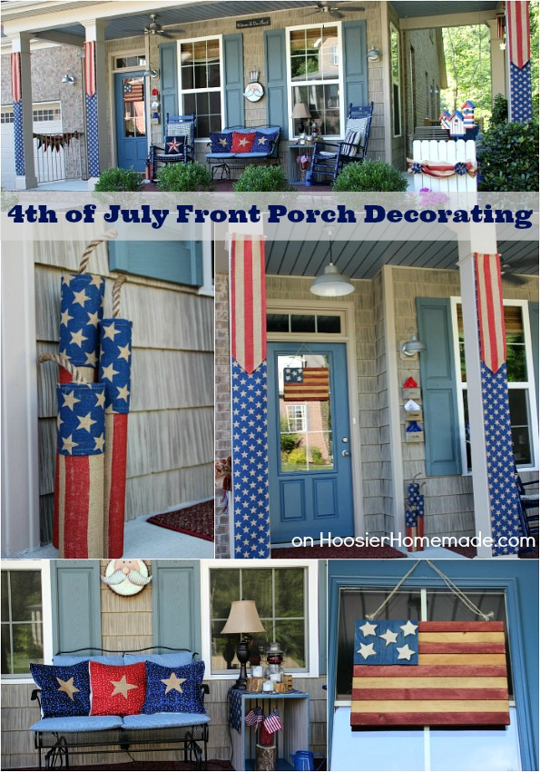 4th of July Front Porch Decorating Ideas  Hoosier Homemade - How To Decorate A Cottage Style Home