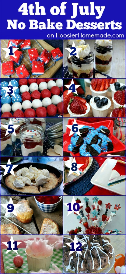 4th of July No Bake Desserts | Recipes on HoosierHomemade.com
