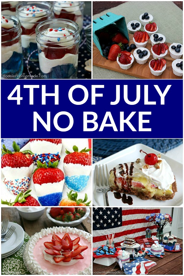 4th of July No Bake Desserts