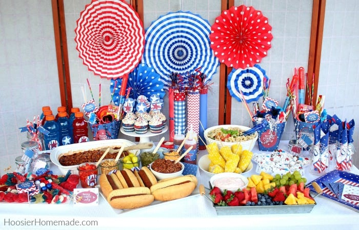 4th of July Party Table