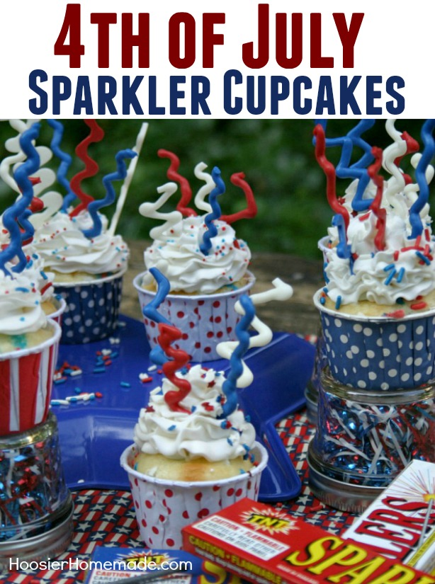 You won't believe how easy and fun these 4th of July Cupcakes are to make! The kids will have a blast helping too!