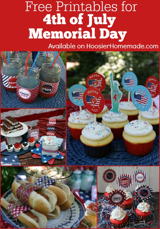 4th of July.Memorial Day Printables