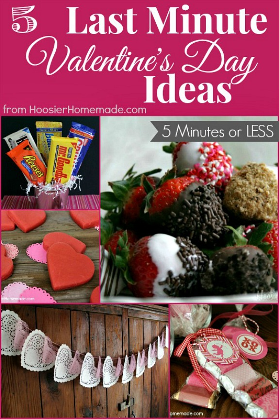 Short on time? Here are 5 Last Minute Valentine's Day Ideas that can be done in 5 minutes! Pin to your Valentine's Day Board!