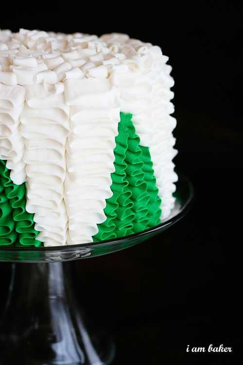 Christmas Tree Surprise Cake