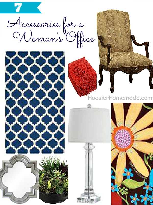 7 Accessories for a Woman's Office | Details on HoosierHomemade.com