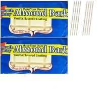 Plymouth Pantry Almond Bark White Chocolate Wafers. Easy One Stop Shopping for the Best Dipping Milk Chocolate. Delicious White Candy Melts For Fondue or Microwave. Also includes 8 Dipping Sticks.