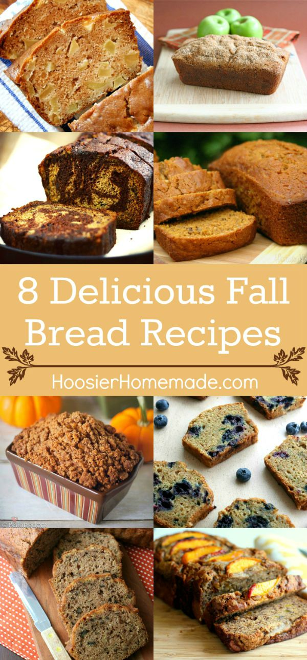 "Nothing says ""FALL"" quite like a loaf of Pumpkin Bread! Or maybe it's Apple Cider Bread - or Zucchini Bread! No matter which one is your favorite, you will love these Fall Bread Recipes!"