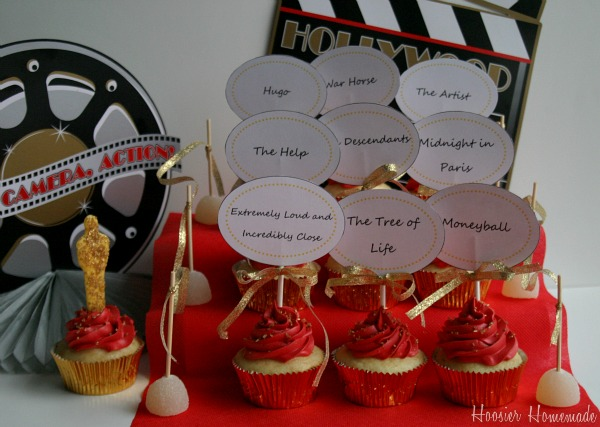 Red Carpet Cake Toppers