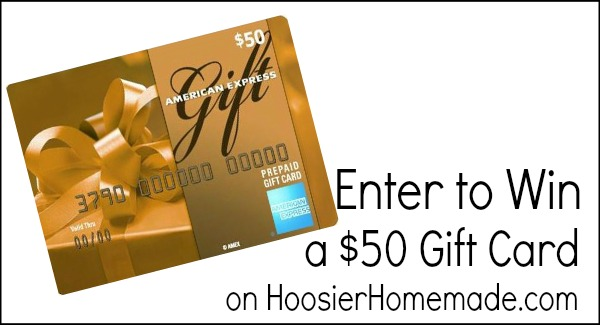 American Express Gift Card Giveaway on HoosierHomemade.com