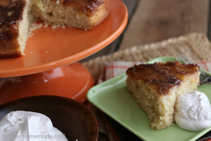 Apple Cinnamon Upside Down Cake - Hoosier Homemade