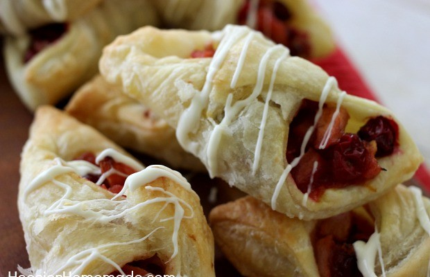 Apple Cranberry Pastries | Recipe on HoosierHomemade.com
