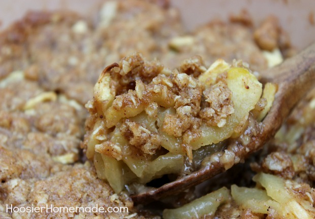 Homemade Apple Crisp :: Recipe on HoosierHomemade.com