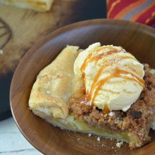 Warm Apple Crostata with Crumble Topping