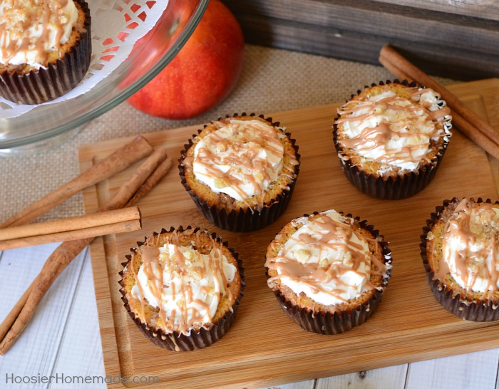 Apple Crumble Pie Cupcakes