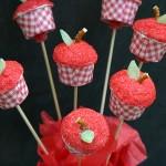 Apple Cupcake Pops - August 2012