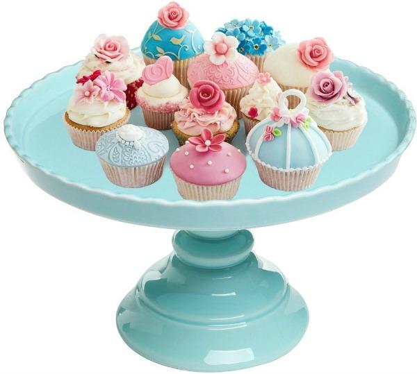 Aqua Blue Cake Stand
