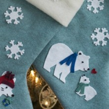DIY Felt Christmas Stockings: Holiday Inspiration