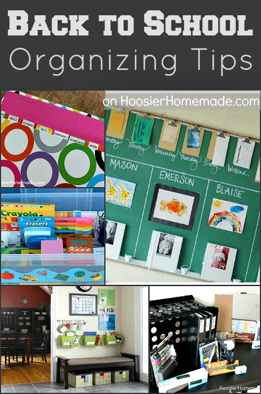 Get organized with these simple Back to School Organizing Tips! Pin to your Organizing Board!