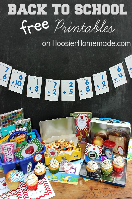 FREE Back to School Printables :: Available on HoosierHomemade.com