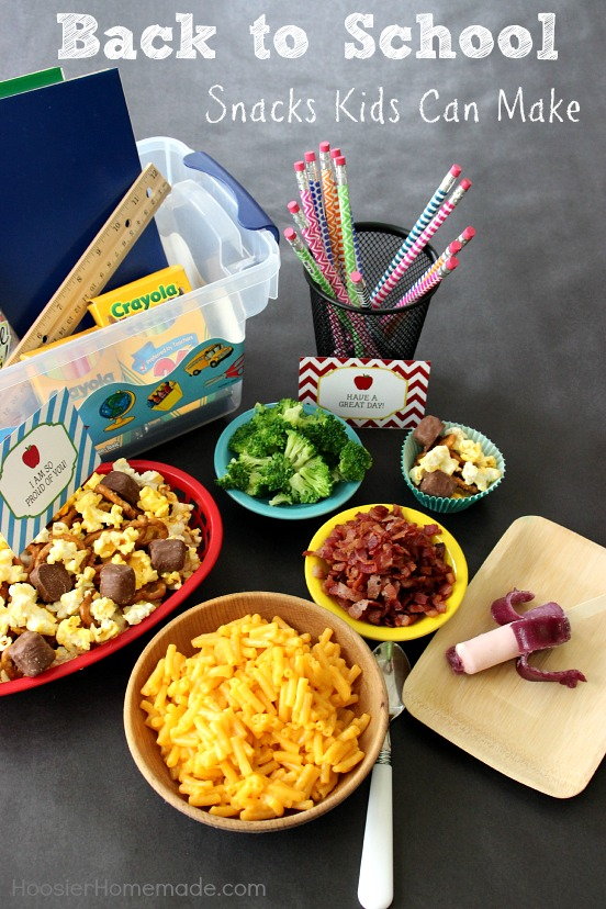 Back to School Snacks that Kids Can Make | Recipes on HoosierHomemade.com
