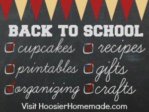 Back to School Week on HoosierHomemade.com