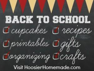 Back to School Week on HoosierHomemade.com