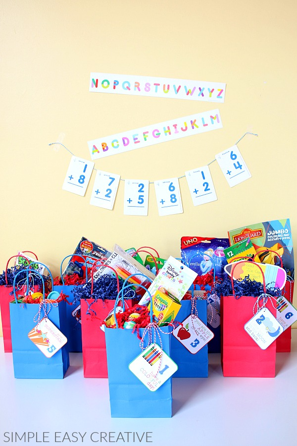 Countdown Bags for Back to School