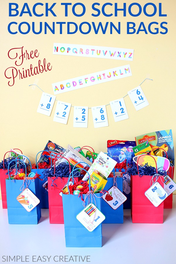 Treat the Kids to Countdown Bags for Back to School