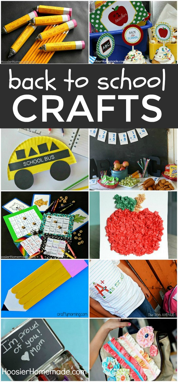BACK TO SCHOOL CRAFTS -- Grab the kids, it's time to CRAFT! These fun Back to School crafts will get the kids ready and in the mood for school! Also perfect for Homeschool Crafts!
