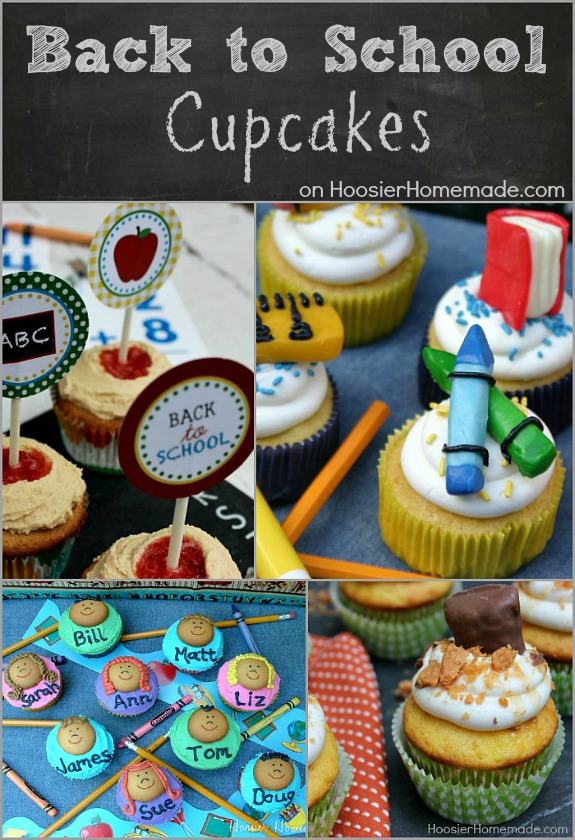 Back to School Cupcakes | Simple and easy cupcakes for kids and teachers | Recipes on HoosierHomemade.com