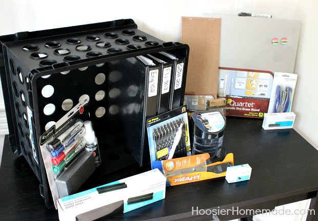 Back to School : Desk Organization :: HoosierHomemade.com