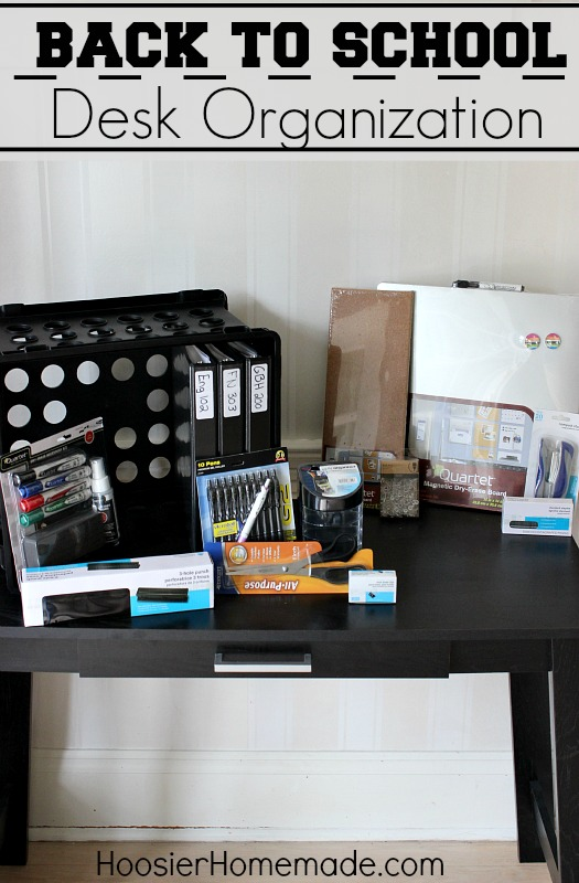 Lovely Back To School: Desk Organization :: HoosierHomemade.com Part 27