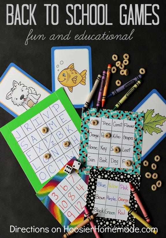 Back to School Games | Details on HoosierHomemade.com