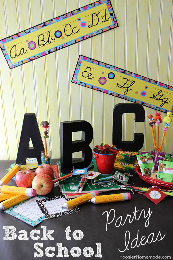 Celebrate with these Back to School Party Ideas! No need to throw a huge, expensive, time consuming party! These quick, easy and inexpensive Back to School Party Ideas are fun and the kids will have a great time! Click on the Photo to start the School Year off right!